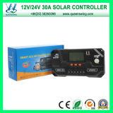 LCD表示(QWP-VS3024U)とのPWM 12/24V 30A Solar Charge Controller
