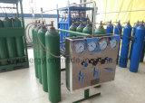 Cilindro de alta pressão do aço sem emenda de dióxido de carbono do nitrogênio do argônio do oxigênio da alta qualidade 50L