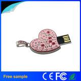 Привод вспышки USB ювелирных изделий 8GB Pendrive сердца подарка выдвиженческой девушки кристаллический