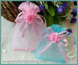 Troddeln, die Organza-Süßigkeit-Geschenk-Beutel mit Silk FarbbandBowknot Wedding sind