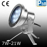 IP68 27W LED 수중 반점 빛, LED 수중 샘 빛