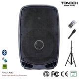 Fachmann 15 Zoll schielt Lautsprecher-Kasten mit Rädern und Bluetooth an