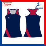 Bodysuit van het Netball van de Vrouwen van de Sublimatie van het team Vastgestelde met de Uniformen van Borrels