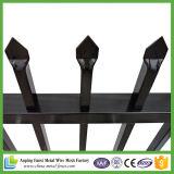 Puder-überzogene Röhrenstangen-Oberseite-Stahlzaun für Sicherheit