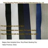 Cuero del PVC del cuero artificial del cuero de zapato de los deportes al aire libre del PVC de la certificación Z037 del oro del SGS