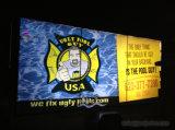 Alta bandera puesta a contraluz Vinly al aire libre/de interior del PVC de la transparencia con la impresión