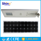 luz de rua solar Integrated ao ar livre do diodo emissor de luz de 80W 100W