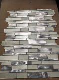Weiße grosse Block-Glas-und Rosen-Metallmosaik-Fliese