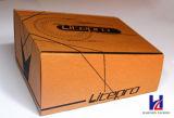 Rectángulo de zapatos de empaquetado plegable reciclado ambiental del cartón acanalado rígido
