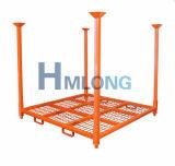 Lager-stapelbare Stahlgummireifen-Ladeplatten-Zahnstangen-Speicher-Zahnstangen