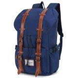 Вскользь Satchel Bookbag рюкзака Backpack плеча кожи сбор винограда Schoolbag холстины Hiking мешок