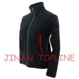 Enfants Black Cationic Micro Fleece Spandex Fiber Stitching Color Casual Jacket