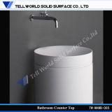 Lavabo de colada de acrílico de China de colada del fregadero de mármol artificial estándar americano vítreo del lavabo