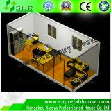자동차 40ft Balcony Prefabricated Container House
