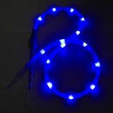 De Slang van Shisha van de Waterpijp van het nieuwste 1.8m Blauwe LEIDENE Silicone van het Flitslicht (S-hh-015-4)