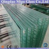 vidrio laminado Tempered plano de 6mm+6m m para los pasamanos de cristal