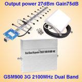 Amplificador celular do sinal do UMTS da voz e dos dados GSM900, amplificador duplo da faixa (2 em uma), repetidor interno e ao ar livre/impulsionador/Amplif