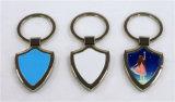 Porte-clés de sublimation en métal de blanc de forme d'écran protecteur
