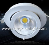 Luz de techo embutida Downlight de la sala de estar del almacén de ropa de la rotación LED