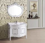 Antikes Solid Wood Floor Standing Bathroom Vanity mit Mirror
