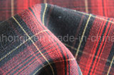 Tela teñida hilado, tela de la tela escocesa de T/R, 275GSM, 63%Polyester 33%Rayon 4%Spandex