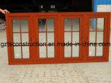 Efficace fenêtre aluminium battant de l'énergie thermique avec un profil brisé