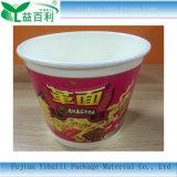 Tazón de fuente de papel respetuoso del medio ambiente de los tallarines inmediatos del envase de alimento
