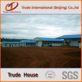 El edificio móvil/modular del panel de emparedado de acero ligero/prefabricó/la casa viva de la familia prefabricada