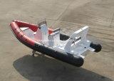Barco de motor de la costilla de China Aqualand 20feet los 6.2m/barco inflable rígido/pesca/rescate/patrulla de la fibra de vidrio (rib620d)