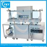 système de four de tube de CVD 1200c avec le système de vide poussé et de refroidissement par eau