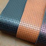 袋のための浮彫りにされた藤によって編まれる人工的なPUの革、靴革