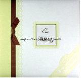 Альбом Scrapbook венчания высокого качества с тесемкой и Gemstone