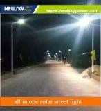 luzes de rua solares completas inteligentes de 50W 12W com Ce, RoHS