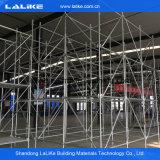 Système approuvé d'échafaudage de Ringlock pour la construction