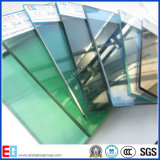 F vidro de flutuador verde/desobstruído do edifício da cor