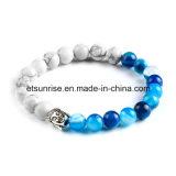 Perle semi-précieuse en cristal naturel Tigre Bouddha Bracelet perlé