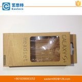 Caisse d'emballage d'écouteur de papier d'emballage de qualité avec le guichet de PVC