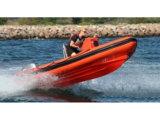 Barco do reforço de Aqualand 19feet 5.8m/barco inflável rígido (RIB580t)