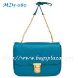 Schultaschen der Form Ol Dame-echtes Leder, 2 Falten-Handtasche