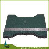 160X200mmのサイズの屋外のリサイクルされたゴム製床のペーバー