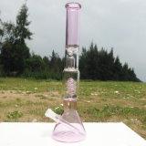 Waterpijp van het Glas van het Ontwerp van Autunm de Roze Nieuwe voor het Roken van de Waterpijp (S-GB-250)