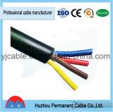 Padrão encalhado cabo do IEC do fio de cobre de corrente eléctrica de Rvv/H05VV-F