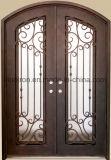 Portas da rua Tempered do ferro das portas do vidro de segurança do baixo preço