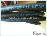 Flexibler Hochdruckstahldraht-verstärkter industrieller hydraulischer Gummiöl-Schlauch (En857 2sc)
