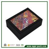 Rectángulo de papel de la joyería promocional de cuero del embalaje