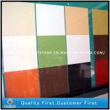 Künstliche feste Oberflächentechnik Blauer/Rosa-/Gelb-/grüne Farben-Quarz-Stein