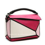 De geometrische Samengevoegde Ontwerper van de Kleuren van het Contrast Dame Fashion Hand Bag (MBNO040127)