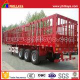 Tri Wellen 40 Tonnen - 60 des niedrigen Chassisgooseneck-Zaun-Tonnen Typ-Stange-halb LKW-Schlussteil