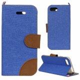عميق زرقاء دنيم محفظة جلد هاتف حالة لأنّ [إيفون7] فعليّة