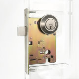 Portello Hardware Single Cylinder Deadbolt in Satin Stainless Steel